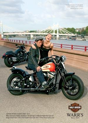 Saffron Design, London – Client: Warr's Harley-Davidson